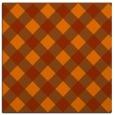 rug #639241 | square red-orange check rug