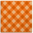 rug #639245 | square red-orange check rug