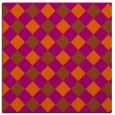 rug #639249 | square red-orange check rug