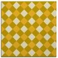 rug #639273 | square yellow check rug
