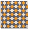 rug #639333 | square white check rug