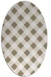 rug #639337 | oval beige check rug
