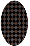 rug #639348 | oval check rug