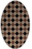 rug #639354   oval check rug