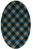 rug #639357 | oval mid-brown rug
