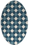 rug #639361 | oval white check rug