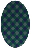 rug #639369   oval blue check rug