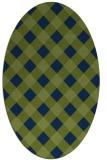 rug #639373 | oval blue check rug
