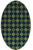 rug #639376 | oval check rug