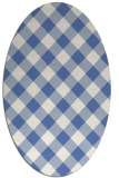 rug #639377 | oval blue check rug