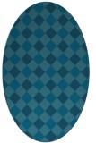 rug #639389   oval check rug