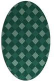 rug #639394 | oval check rug