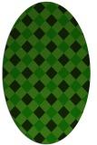 rug #639405   oval green rug