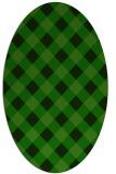 rug #639407 | oval check rug