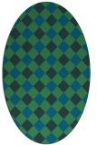 rug #639417 | oval check rug