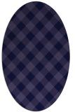 rug #639421 | oval blue-violet check rug