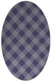 rug #639425 | oval blue-violet check rug