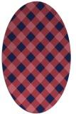 rug #639429 | oval blue-violet check rug