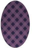 rug #639433 | oval purple check rug