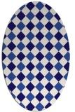 rug #639441 | oval blue-violet check rug
