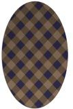 rug #639445 | oval beige geometry rug