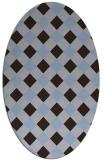 rug #639452 | oval check rug