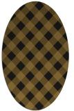 rug #639453 | oval mid-brown rug