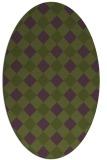 rug #639476 | oval check rug