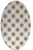 rug #639477 | oval white check rug