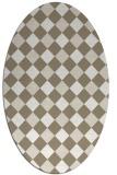 rug #639480   oval check rug
