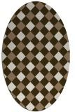rug #639489 | oval beige check rug