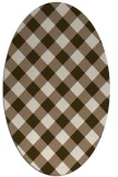 rug #639492   oval check rug