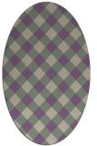 rug #639517 | oval purple check rug