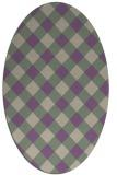 rug #639518 | oval check rug
