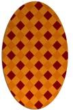 rug #639526 | oval check rug