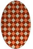 rug #639533 | oval beige geometry rug