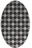 rug #639540 | oval check rug