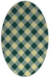 rug #639541 | oval yellow check rug