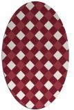 rug #639551 | oval check rug