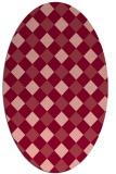 rug #639553 | oval pink geometry rug