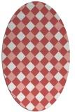 rug #639557 | oval white check rug