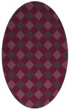 rug #639561 | oval purple geometry rug