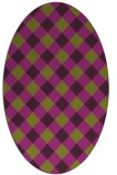rug #639565 | oval purple rug