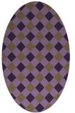 rug #639569 | oval purple check rug