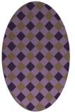 rug #639570 | oval check rug