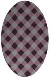 rug #639573 | oval purple check rug