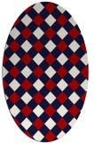 rug #639577 | oval red check rug