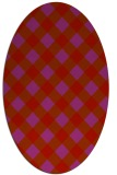 rug #639589 | oval red check rug