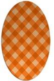 rug #639597 | oval red-orange check rug