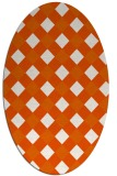 rug #639605 | oval red-orange check rug